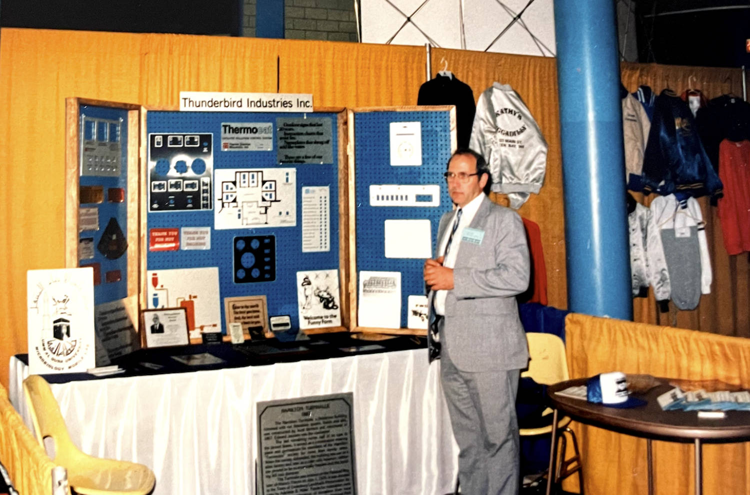 Fred Ziegler at the first tradeshow for Thunderbird Industries
